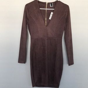 NEW Long sleeve mauve mini dress